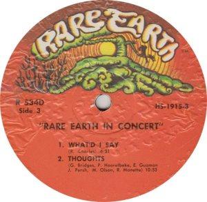 RARE EARTH 534 - RARE EARTH 3
