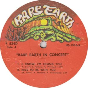 RARE EARTH 534 - RARE EARTH 4