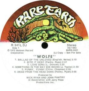 RARE EARTH 541 - WOLFE C