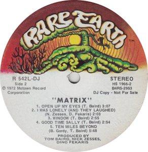 RARE EARTH 542 - MATRIX 2