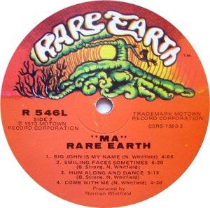 RARE EARTH 546 - RARE EARTH F