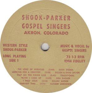 SHOOK PARKER - SP - WESTERN STYLE