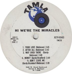 TAMLA 220 - MIRACLES B