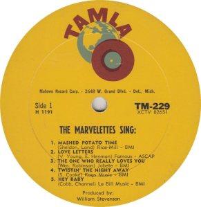 TAMLA 229 - MARVELETTES R