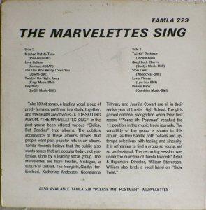 Tamla 229B - Marvelettes