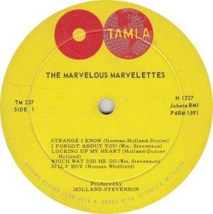 TAMLA 237 - MARVELETTES R