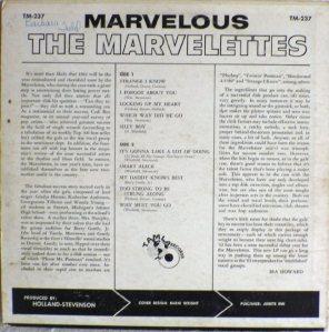 Tamla 237B - Marvelettes