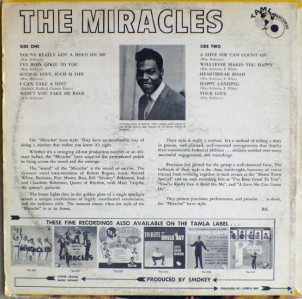Tamla 238B - Miracles