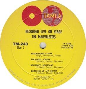 TAMLA 243 - MARVELETTES R