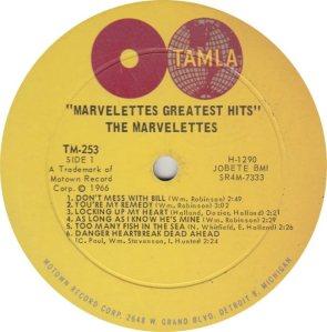 TAMLA 253 - MARVELETTES R