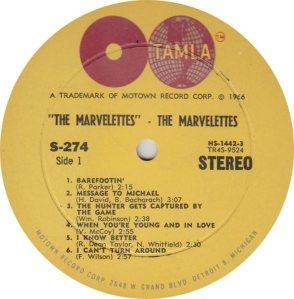 TAMLA 274 - MARVELETTES R