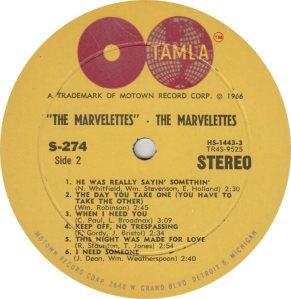 TAMLA 274 - MARVELETTES R_0001