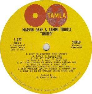 TAMLA 277 - GAYE & TERRELL - R