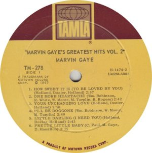 TAMLA 278 - GAYE - R