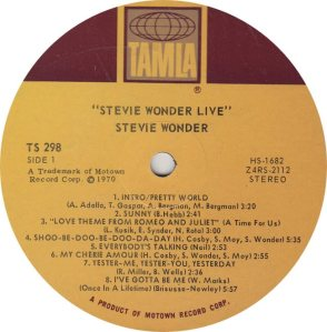 TAMLA 298 - WONDER - R