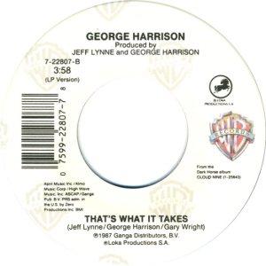 BEATLES HARRISON - 1989 D