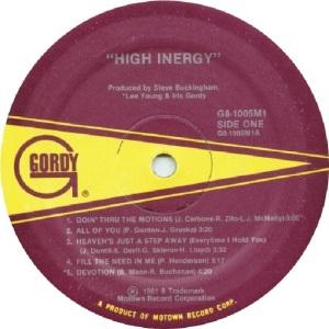 GORDY 1005 - HIGH INERGY - B