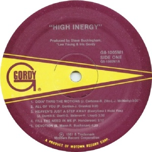 GORDY 1005 - HIGH INERGY - B