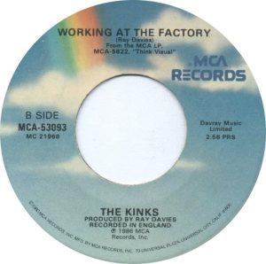 KINKS - MAY 1987 B