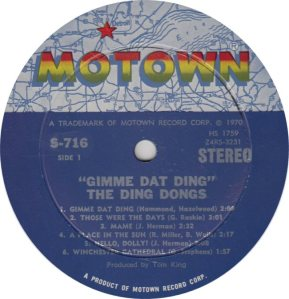 MOTOWN 716 - DING DONGS