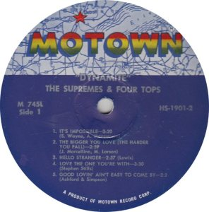 MOTOWN 745 - SUPREMES & FOUR TOPS