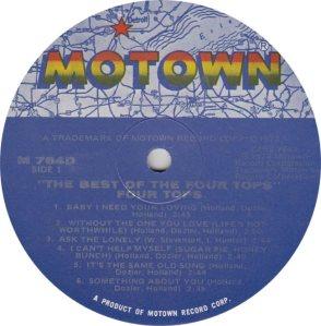MOTOWN 764 - FOUR TOPS 1