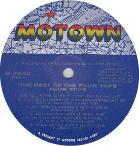MOTOWN 764 - FOUR TOPS 4