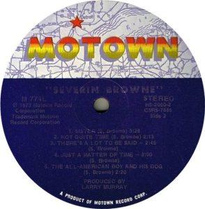 MOTOWN 774 - SEVERIN BROWNE D