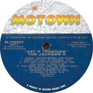 MOTOWN 783 - JACKSON 5 C