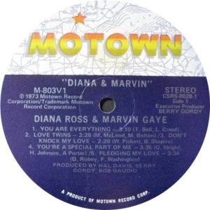 MOTOWN 803 - GAYE AND ROSS B