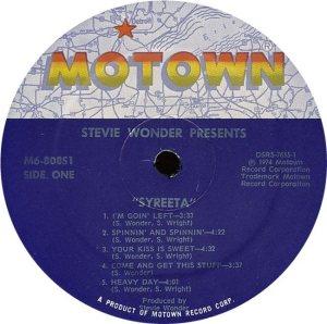 MOTOWN 808 - SYREETA C