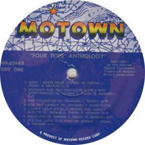 MOTOWN 809 - FOUR TOPS - 1