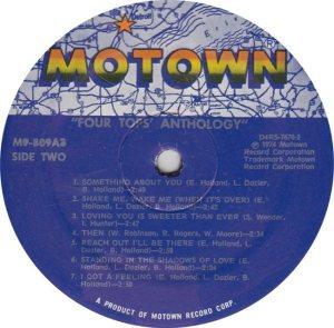MOTOWN 809 - FOUR TOPS - 2