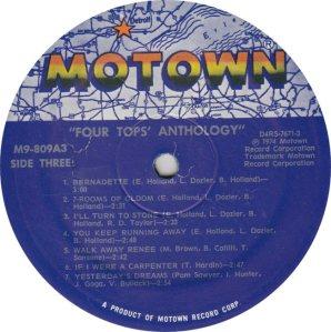 MOTOWN 809 - FOUR TOPS - 3