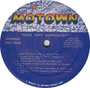 MOTOWN 809 - FOUR TOPS - 4