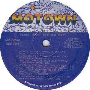 MOTOWN 809 - FOUR TOPS - 5