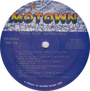 MOTOWN 809 - FOUR TOPS - 6