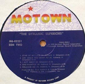 MOTOWN 822 - DYN SUPERIORS D