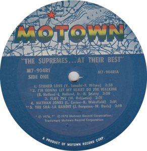 MOTOWN 904 - SUPRMES - R