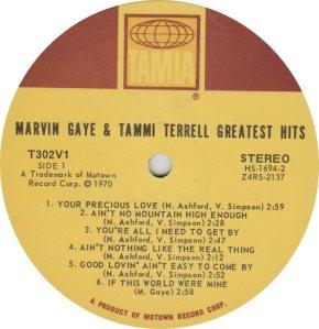 TAMLA 302 - GAYE & TERRELL - R