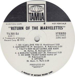 TAMLA 305 - MARVELETTES - R