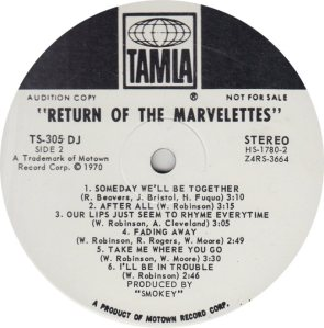 TAMLA 305 - MARVELETTES - R_0001