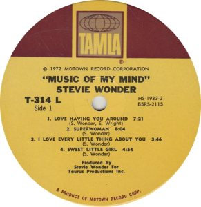 TAMLA 314 - WONDER - R