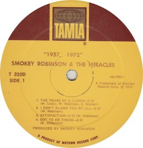 TAMLA 320 - MIRACLES - R