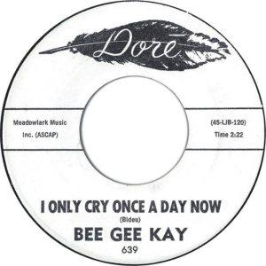 BEE GEE KAY & BON BONS - 62 B