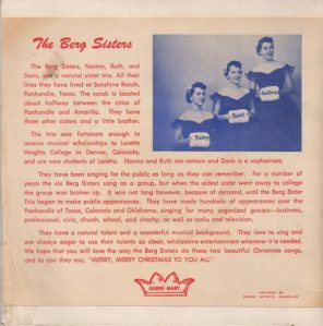 BERG SISTERS 58 HOYT B