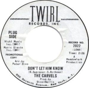 CARVELS - 1966