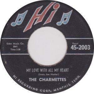 CHARMETTES - 1958 B