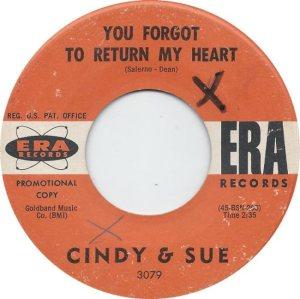 CINDY & SUE - 62 B