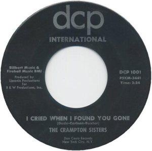 CRAMPTON SISTERS - 1963 B